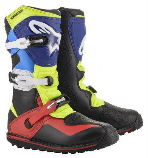 Alpinestars Tech T, schwarz-rot-blau-gelb 31