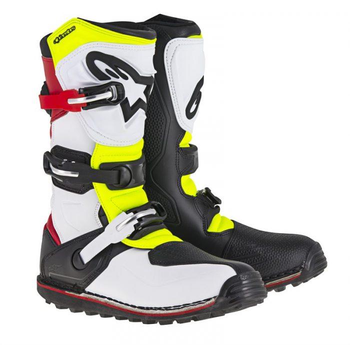 Alpinestars Tech T, weiß-rot-gelb-schwarz 1