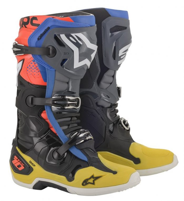 Alpinestars Tech 10, schwarz-gelb-blau-rot 1