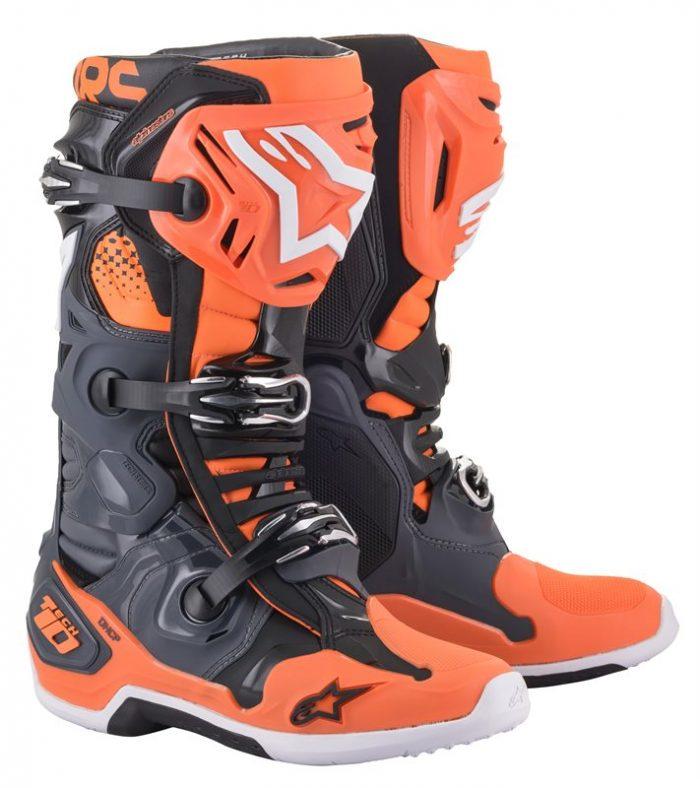 Alpinestars Tech 10, grau-orange 1