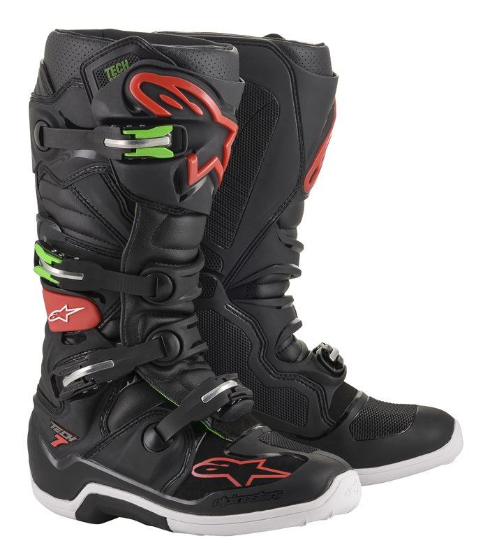 Alpinestars Tech 7, schwarz-rot-grün 1