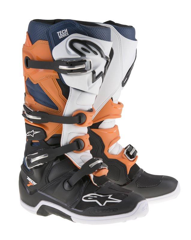 Alpinestars Tech 7, schwarz-orange-weiß-blau 1