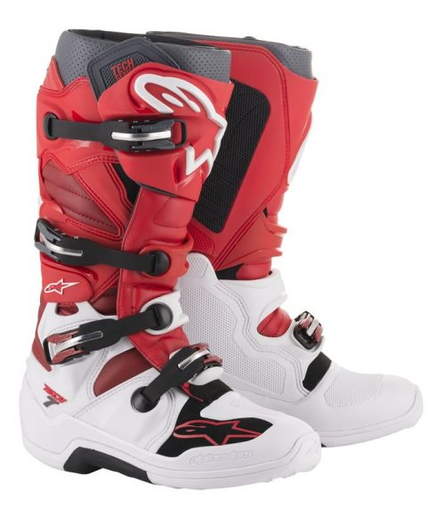 Alpinestars Tech 7, weiß-rot 26