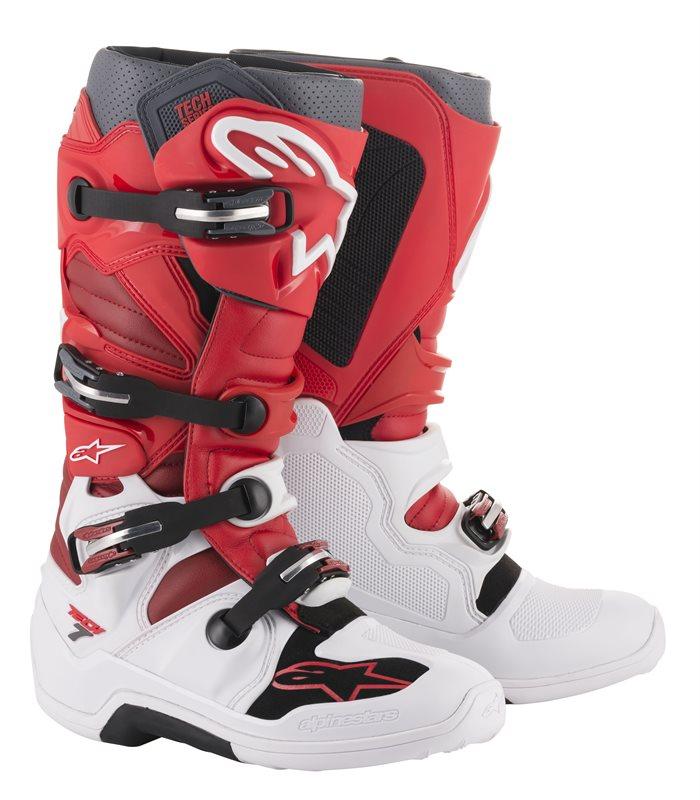 Alpinestars Tech 7, weiß-rot 1