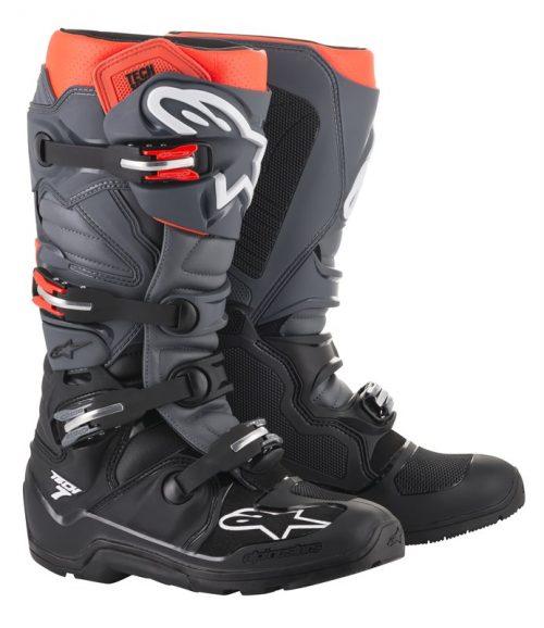 Alpinestars Tech 7 Enduro, schwarz-grau-rot 38