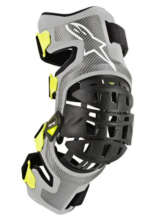 Alpinestars Bionic-7, Knee Brace Set, silber-gelb 3