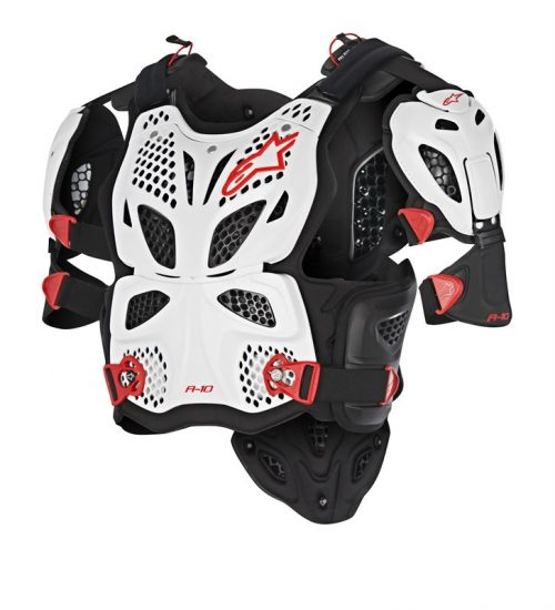 Alpinestars A_10 Full Chest Protector, weiß-schwarz 24