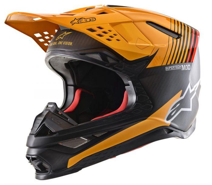 Alpinestars Supertech M10 Dyno, schwarz-carbon-orange 1