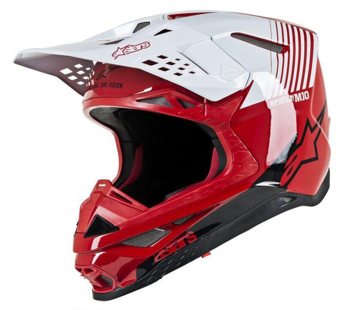 Alpinestars Supertech M10 Dyno, rot-weiß 1
