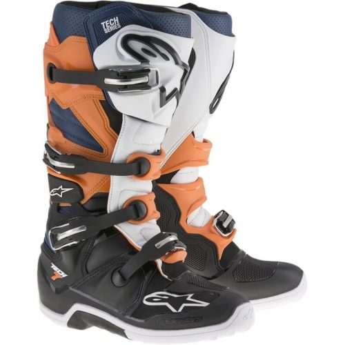 Alpinestars Tech7 Schwarz-Orange-Blau – Modell 2021 3
