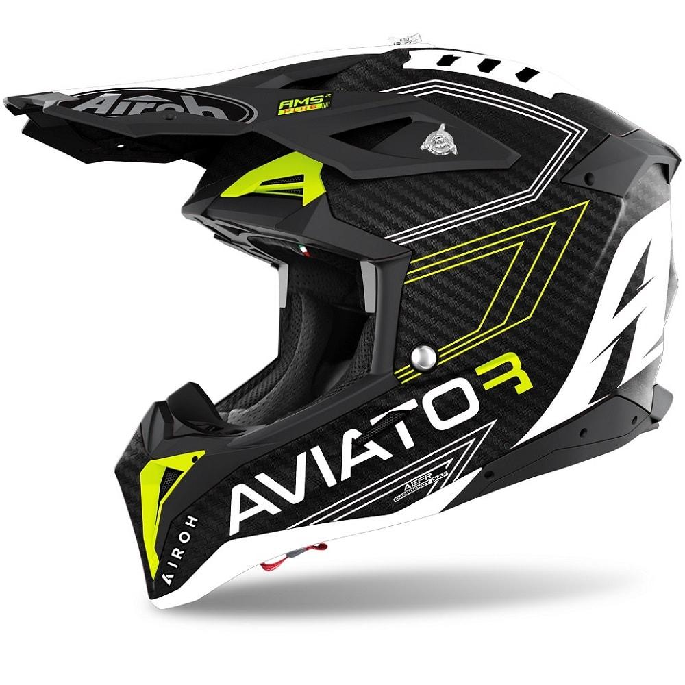 Airoh Aviator 3 Primal Helm gelb-matt 2022