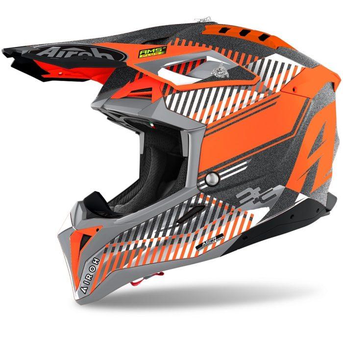 Airoh Aviator 3 Wave Helm orange-chrom