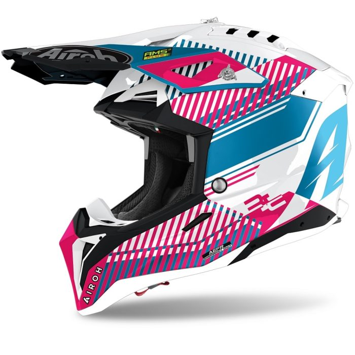 Airoh Aviator 3 Wave Helm pink-chrom
