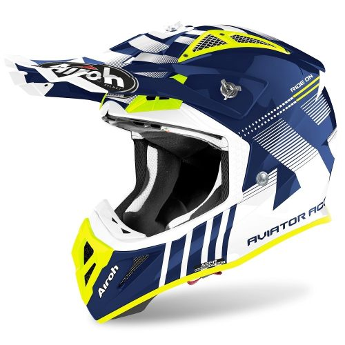 Airoh Aviator ACE Nemesi Helm blau-glanz