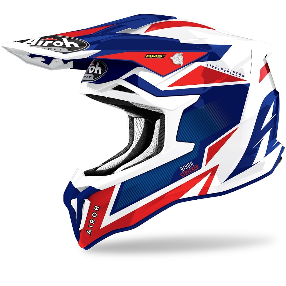 Airoh Strycker Axe Helm blau-rot-glanz