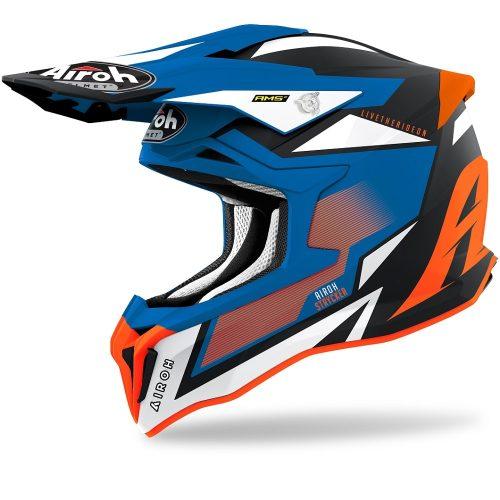 Airoh Strycker Axe Helm orange-blau-matt