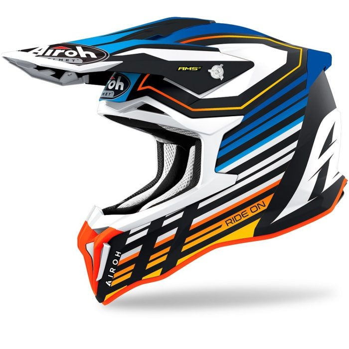 Airoh Strycker Shaded Helm blau-glanz