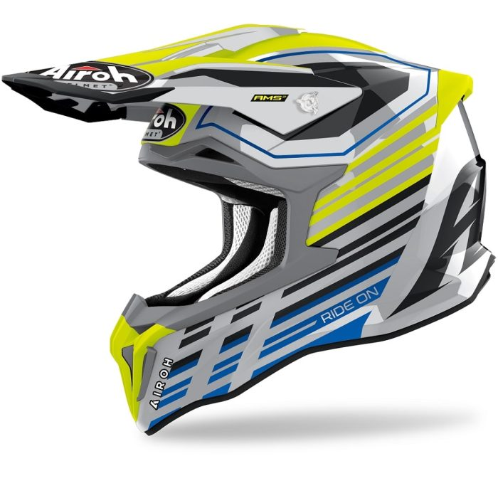 Airoh Strycker Shaded Helm gelb-glanz 2022