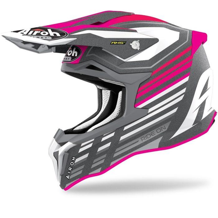 Airoh Strycker Shaded Helm pink-matt