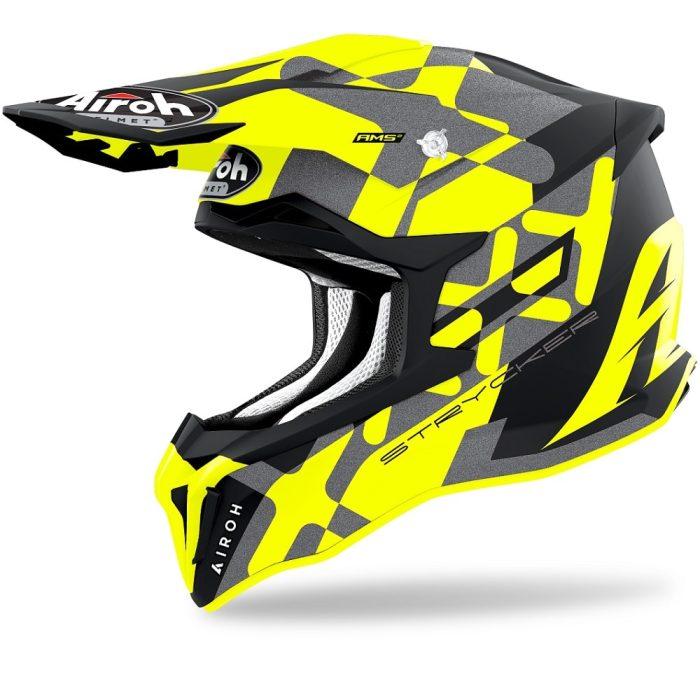 Airoh Strycker XXX Helm gelb-matt