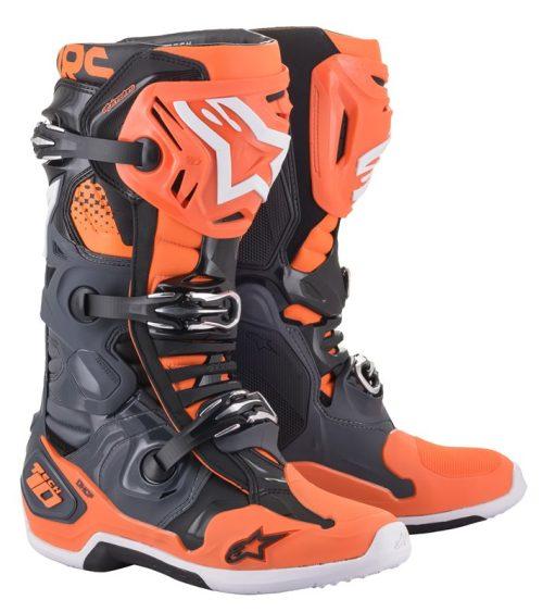 Alpinestars Tech 10 Stiefel grau-orange 2022