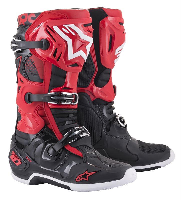 Alpinestars Tech 10 Stiefel rot-schwarz