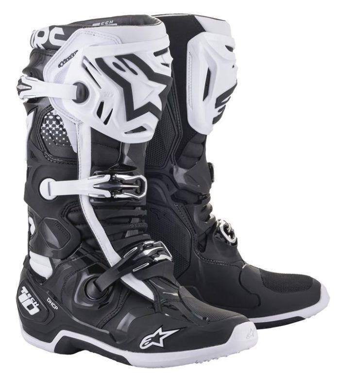 Alpinestars Tech 10 Stiefel schwarz-weiß
