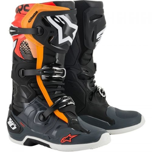 Alpinestars Tech 10 Enduro Schwarz-Grau-Rot-Orange, Modell 2021 4