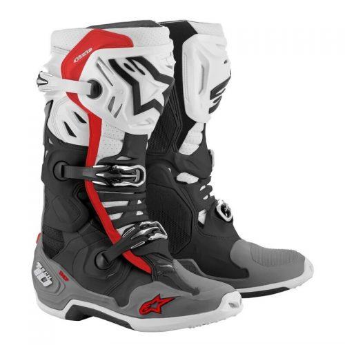 Alpinestars Tech 10 Enduro Supervented Schwarz-Grau-Rot-Weiß, Modell 2021 6