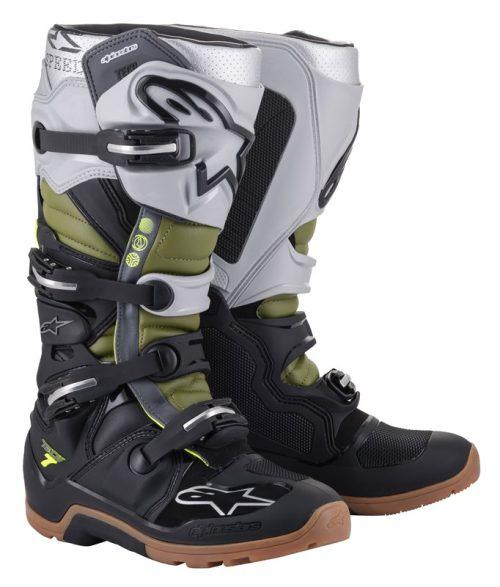 Alpinestars Tech 7 Enduro Stiefel schwarz-silber-grün