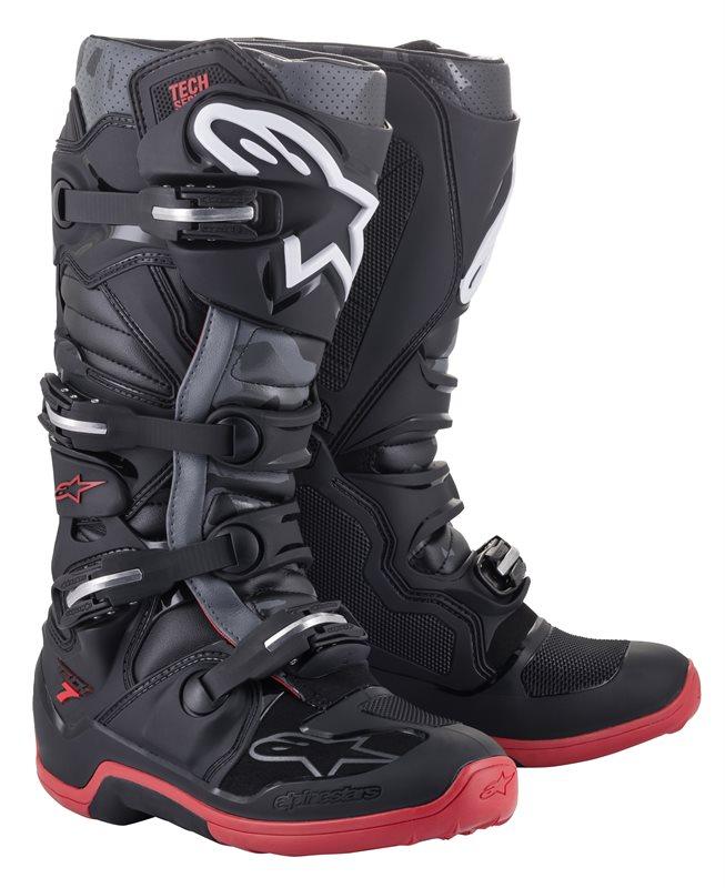 Alpinestars Tech 7 Stiefel schwarz-grau-rot