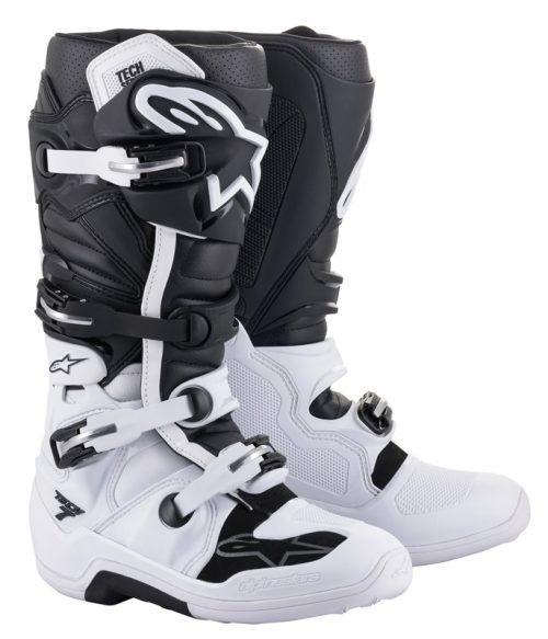 Alpinestars Tech 7 Stiefel weiß-schwarz