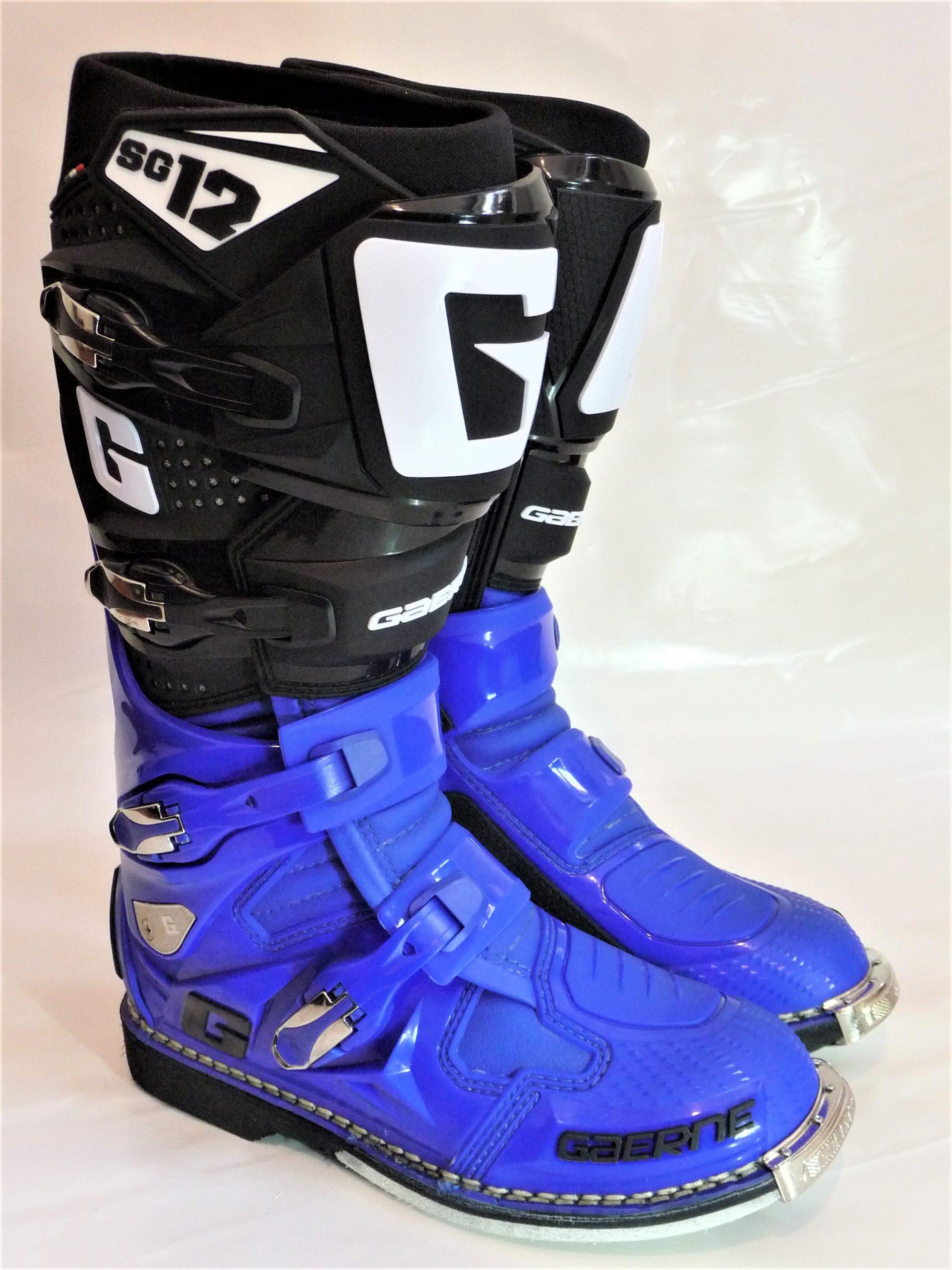 Gaerne SG 12, blau/schwarz Motocross-Enduro Stiefel