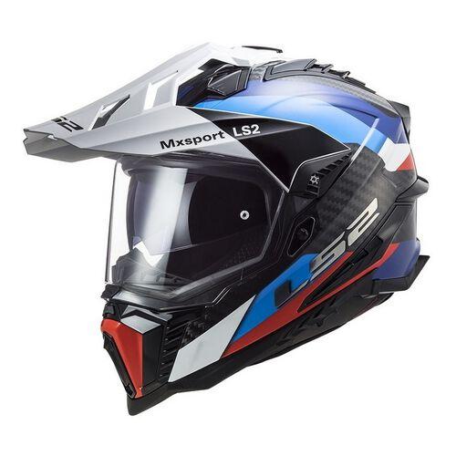 LS2 MX 701 Explorer C Frontier Helm schwarz-blau