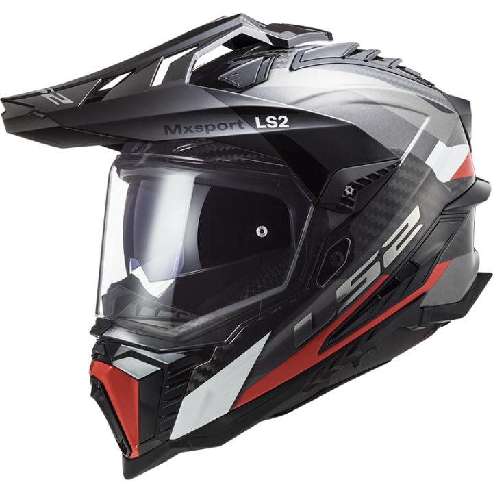 LS2 MX 701 Explorer C Frontier Helm titan-rot