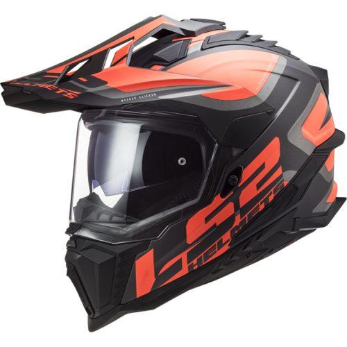 LS2 MX 701 Explorer HPFC Alter Helm schwarz-orange