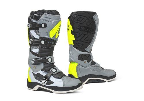 Forma Pilot MX Boots, grey-white-yellow 16