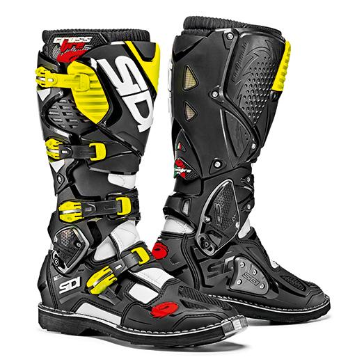 Sidi Crossfire 3, weiß-schwarz-gelb 5